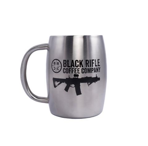 573cae25 BRCC Classic Logo Stainless-Steel Mug (STAINLESS) | The Gun Dealer