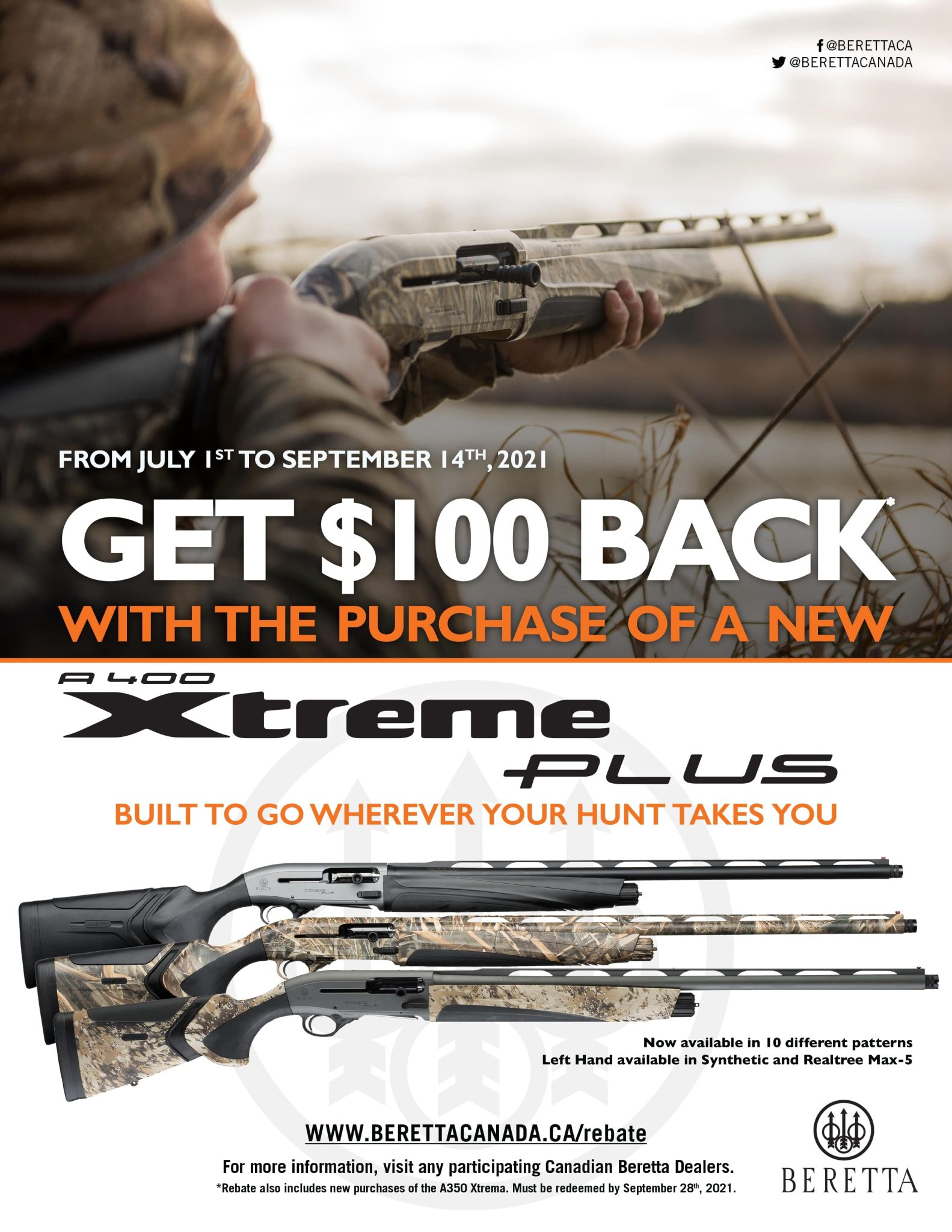 Beretta 100 off A400XP Promotion 2021 - Poster